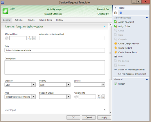 System center 2012 extended oip maintenance mode power for Server runbook template